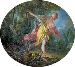 Boucher | Rhea Sylvia Fleeing from the Wolf, 1756 | Giclée Canvas Print