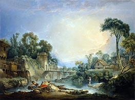 Boucher | The Rustic Bridge, c.1756 | Giclée Canvas Print