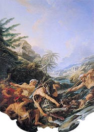 Crocodile Hunt, 1739 by Boucher | Giclée Canvas Print