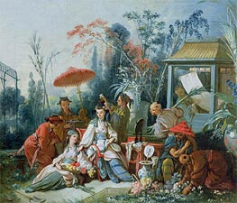 Boucher | The Chinese Garden, c.1742 | Giclée Canvas Print