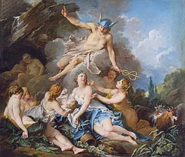 Boucher | Mercury Confiding the Infant Bacchus to the Nymphs, c.1732/34 | Giclée Canvas Print