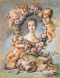 Boucher | Madame de Pompadour, 1754 | Giclée Canvas Print