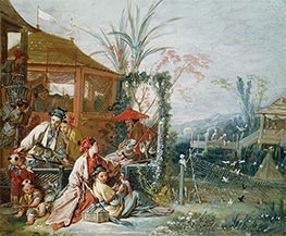 Boucher | The Chinese Hunt, c.1742 | Giclée Canvas Print