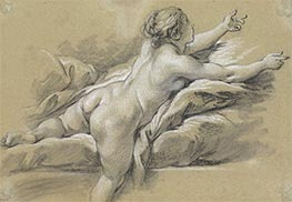 A Nude Woman Reaching to the Right, c.1769 by Boucher | Giclée Paper Print