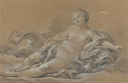 Venus Reclining on a Dolphin, c.1745 by Boucher | Giclée Paper Print