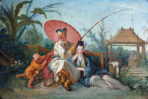 Chinoiserie, c.1742 | Boucher | Painting Reproduction