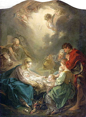 Famous Painting of the Nativity http://www.topartprint.com/artists/Francois_Boucher/art_prints_posters/13214/The_Light_of_the_World_(Nativity).php