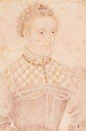 Francois Clouet | Portrait Presumed to be Mary Queen of Scots, c.1560 | Giclée Paper Print