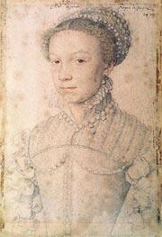 Francois Clouet | Elisabeth of France, 1559 | Giclée Paper Print