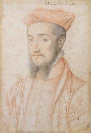 Francois Clouet | Portrait of Cardinal Charles de Lorraine, c.1555 | Giclée Paper Print