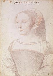 Francois Clouet | Francoise de Longwy wife of Philippe Chapot, Seigneur de Brion, c.1535 | Giclée Paper Print