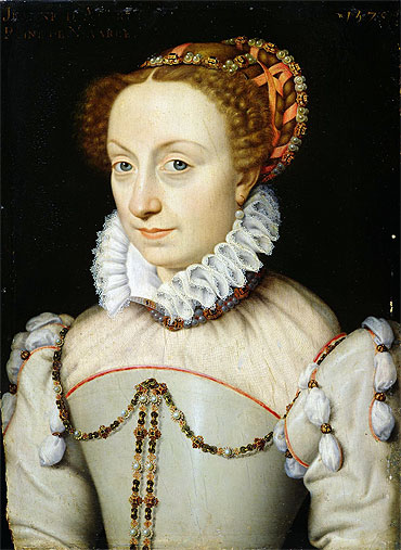 Jeanne III d'Albret Queen of Navarre, 1570 | Francois Clouet | Painting Reproduction