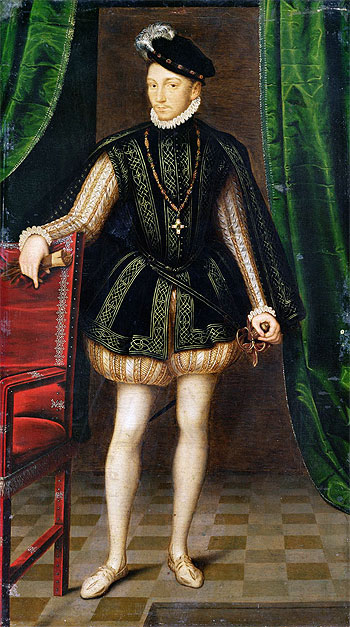 Portrait of Charles IX, undated   Francois Clouet   Painting Reproduction