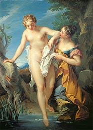 The Bather and her Maid, undated by Francois Lemoyne | Giclée Canvas Print