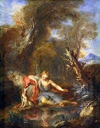 Francois Lemoyne | Narcissus, 1728 | Giclée Canvas Print