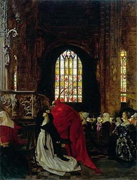 Frank Cadogan Cowper | Mephistopheles and Marguerite in the Cathedral, Undated | Giclée Canvas Print