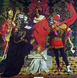Frank Cadogan Cowper | John Cabot and his Sons Receive the Charter from Henry VII to Sail in Search of New Lands, 1910 | Giclée Canvas Print