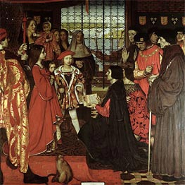Frank Cadogan Cowper | Erasmus and Sir Thomas More Visit the Children of Henry VII at Greenwich in 1499, 1910 | Giclée Canvas Print