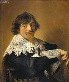 Frans Hals | Portrait of a Man, Possibly Nicolaes Hasselaer, c.1630/35 | Giclée Canvas Print