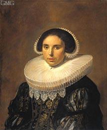Frans Hals | Portrait of a Woman (Sara Wolphaerts van Diemen), c.1630/35 | Giclée Canvas Print