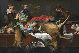Frans Snyders | Pantry Scene with Servant, c.1615/20 | Giclée Canvas Print