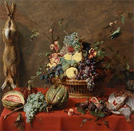 Still Life with Fruit and a Dead Hare, 1630s by Frans Snyders   Giclée Canvas Print