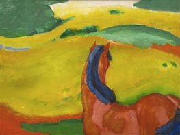 Horse in a Landscape, 1910 by Franz Marc | Giclée Canvas Print