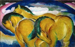 Franz Marc | The Small Yellow Horses, 1912 | Giclée Canvas Print