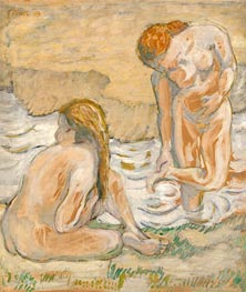 Two Bathing Women (Act Composition II), 1909 by Franz Marc | Giclée Canvas Print
