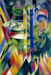 Franz Marc | The Little Mountain Goats, 1913/14 | Giclée Canvas Print