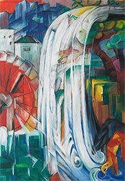 The Bewitched Mill, 1913 by Franz Marc   Giclée Canvas Print