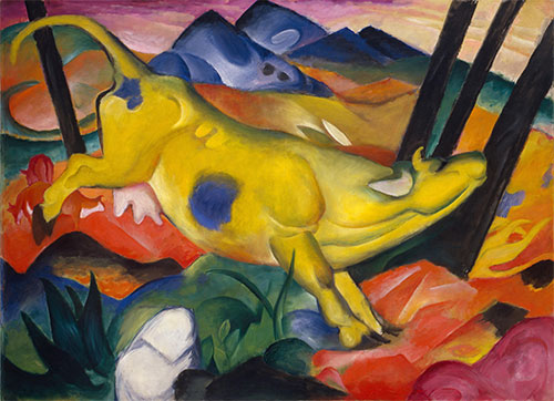 Yellow Cow, 1911   Franz Marc   Painting Reproduction