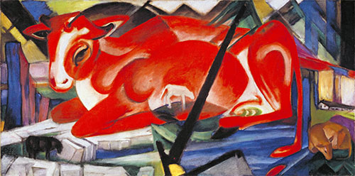 The World Cow, 1913 | Franz Marc | Painting Reproduction