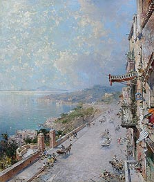 Unterberger | View of Posilipo, near Naples | Giclée Canvas Print