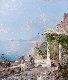 Unterberger | Sorrento, on the Bay of Naples | Giclée Canvas Print