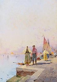 Unterberger | A Sunny Day in Venice | Giclée Canvas Print