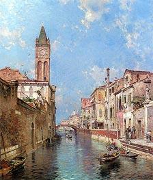 Unterberger | Rio Santa Barnaba, Venice | Giclée Canvas Print