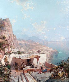 Unterberger | Amalfi, the Gulf of Salerno, undated | Giclée Canvas Print