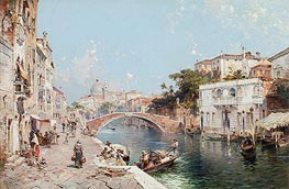 Unterberger | Canal in Venice, undated | Giclée Canvas Print