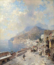 Unterberger | Gulf of Salerno, Amalfi, undated | Giclée Canvas Print