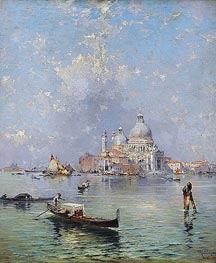 Unterberger | Gondolas in front of the Santa Maria della Salute, Venice, undated | Giclée Canvas Print