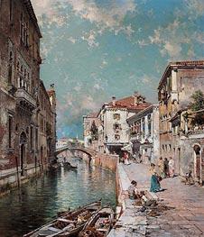 Unterberger | Rio Tiorado, Venice, c.1894/95 | Giclée Canvas Print