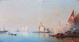 Unterberger | A View across the Lagoon towards the Grand Canal, c.1880/82 | Giclée Canvas Print