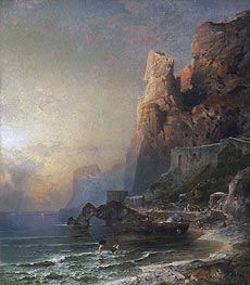Unterberger | Gulf of Salerno, c.1894/95 | Giclée Canvas Print