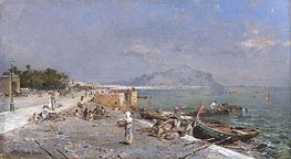 Unterberger | On the Waterfront, Palermo, undated | Giclée Canvas Print