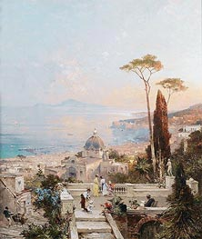 Unterberger | Amalfi, Looking towards the Gulf of Salerno | Giclée Canvas Print