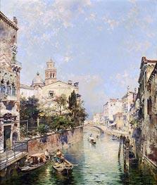 Unterberger | Santa Barnaba, Venice, undated | Giclée Canvas Print
