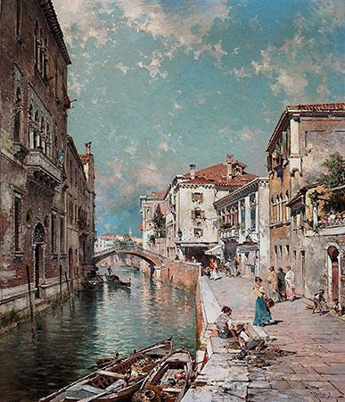 Rio Tiorado, Venice, c.1894/95 | Unterberger | Painting Reproduction