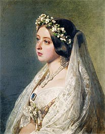 Queen Victoria, 1847 by Franz Xavier Winterhalter | Giclée Canvas Print