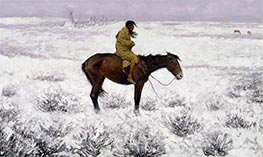 Frederic Remington | The Herd Boy, c.1905 | Giclée Canvas Print